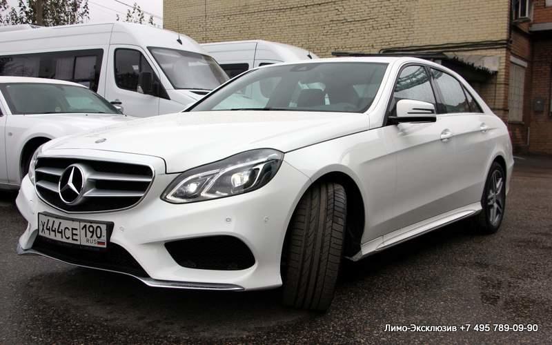 Прокат Mercedes-Benz E Class AMG Белый (№ 444) недорого