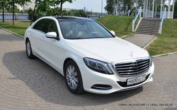 Mercedes S63 AMG 4-MAtic W222 Белый