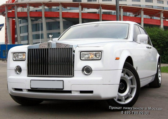 Rolls-Royce Phantom (№ 509) Белый