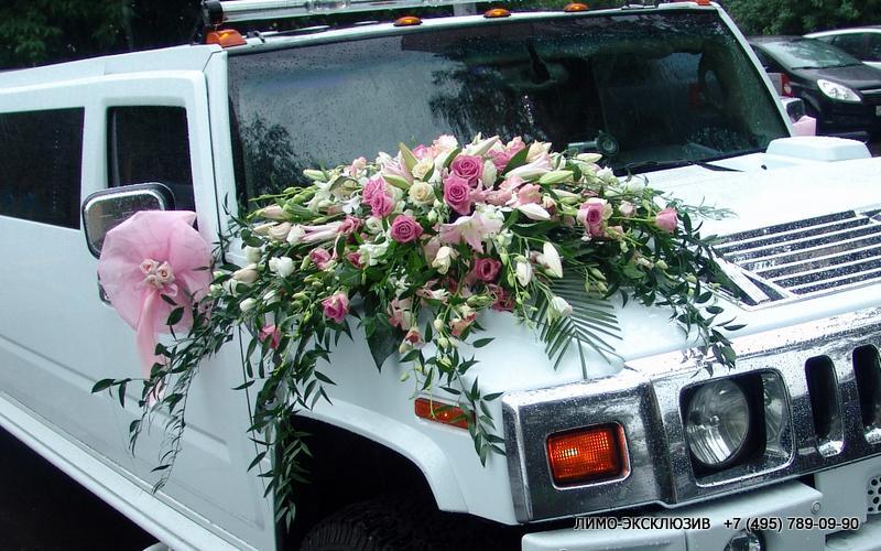 Украшения на машину цветы
